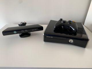 XBOX 360 S + Kinect + 2 Mandos + 10 Juegos