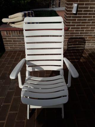 2 Tumbonas sillas de jardin