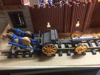 Carreta con cañón playmobil