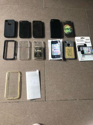Carcasas iPhone 4 y 5 y cristales protectores
