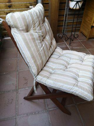 6 cojines sillas exterior