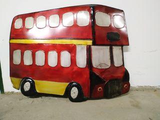 Autobús inglés pared