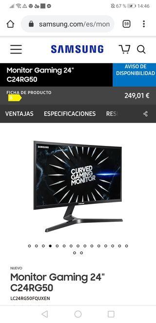Monitor curvo 144hz gaming