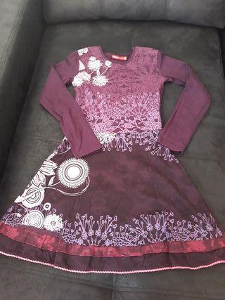 Vestido desigual niña