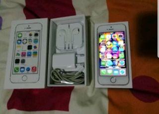 iPhone 5s gold 16GB libre con extras y la caja