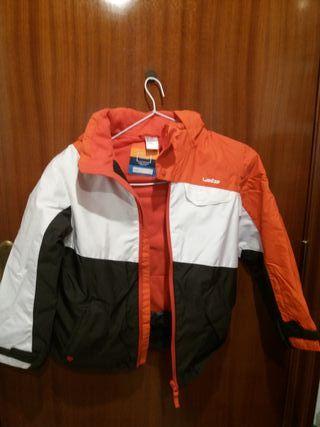 chaqueta niño-a paravientos forro polar talla 8