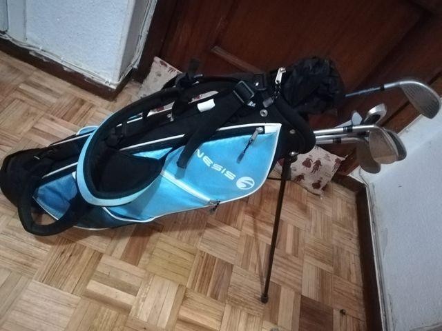 Kit bolsa y Palos de Golf junior
