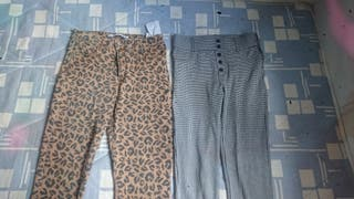 dos pantalones un.leggin Y un.tejano
