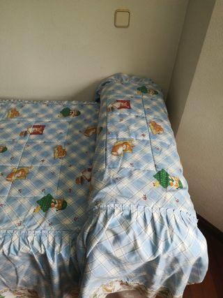Colcha edredón cama 90x190cm