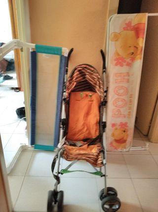 silleta y barrera para bebe
