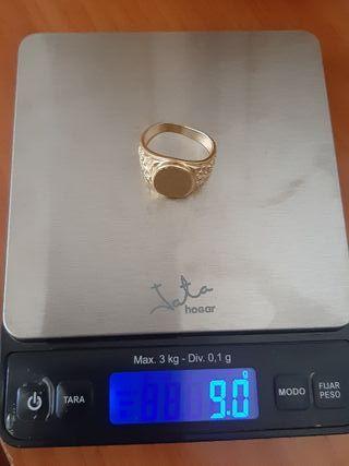 anillo de oro hombre 18 kt