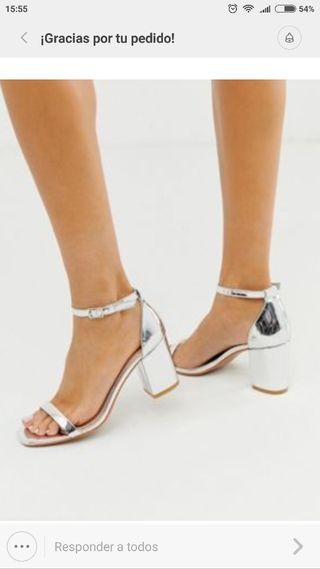 Sandalias plateadas Glamorous Asos