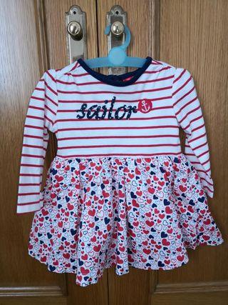 Vestido niña 6 a 9 meses C&A