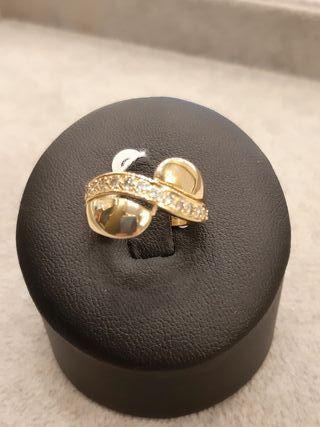 anillo oro 18k y diamantes
