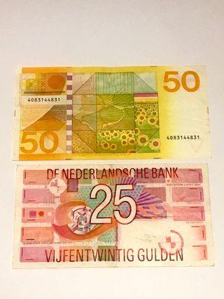 Billetes antiguos florines holandeses