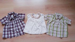 Lote de camisas de niña de 9-12 meses