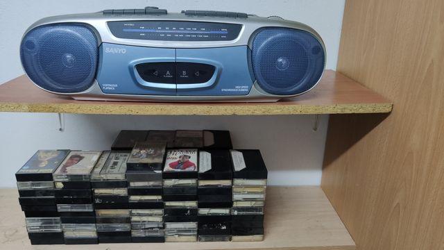 Radio Cassette Sanyo MW8012L doble pletina