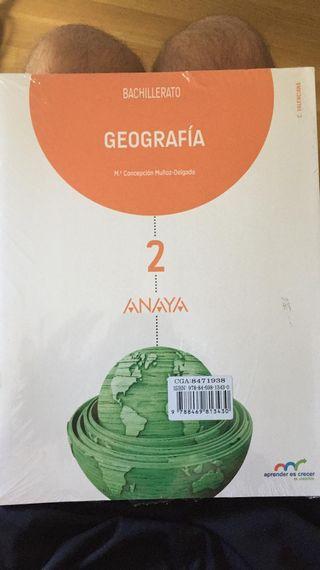 Libro geografía 2 bachillerato Anaya