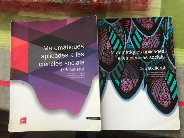 Libros de Matemáticas de Bachillerato