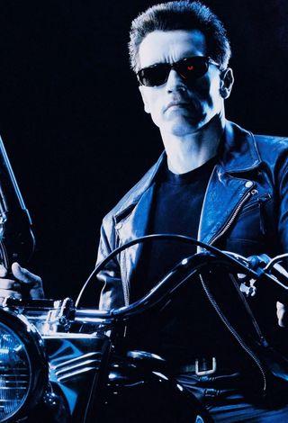 Chaqueta cuero moto Terminator 25Aniversario