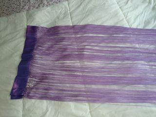 Cortina de hilos lila