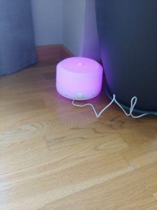 humidificador con difusor de aromas y lámpara