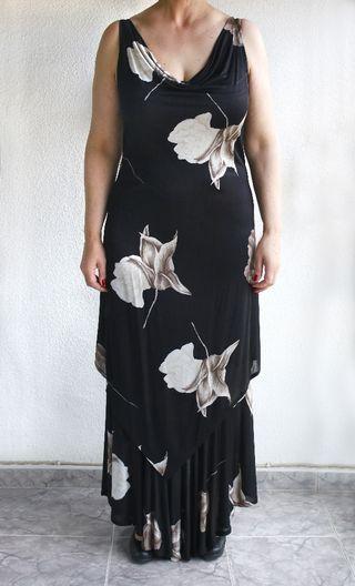 Vestido largo flores talla grande