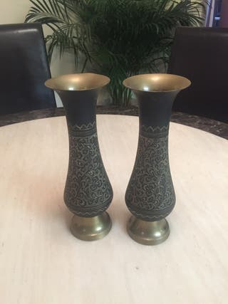 Antique Metallic gold/black vase