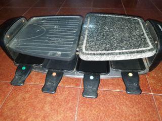 Plancha cocina-grill con Piedra Natural