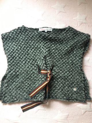 Poncho de lana n+v Villalobos niña talla 4