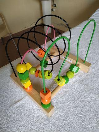 Juguete de madera para bebés, laberinto de Ikea