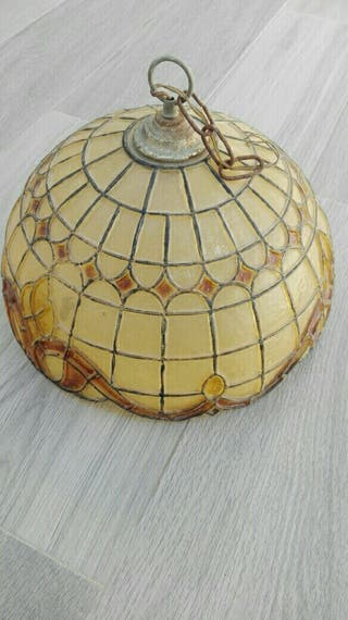 lampara de resina antigua