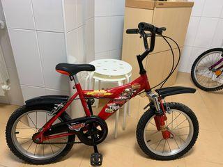 Bicicleta para niño Cars