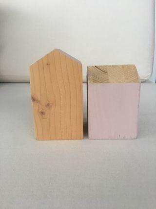 Set casitas de madera