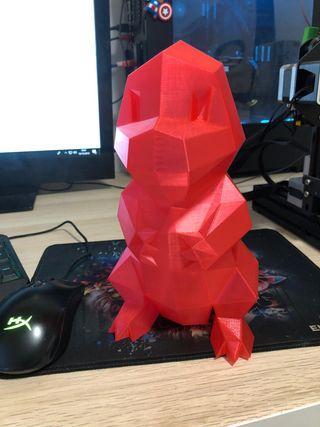 charmander rojo transparente para led 23 cm