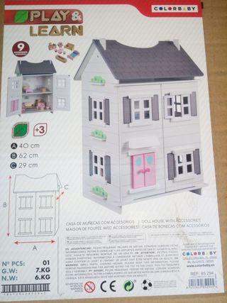 Casita Montessori madera muñecas.Nueva