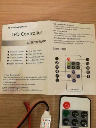 Controlador intensidad LED