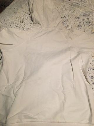 Chaqueta blanca de algodón talla M