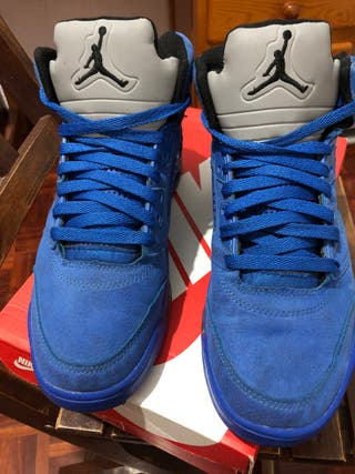 NIKE AIR JORDAN 5 BLUE SUEDE