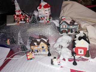 poblado navideño, luz