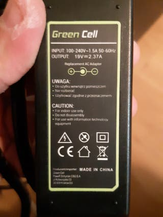 cargador Green Cell portátil 19v 2.37A