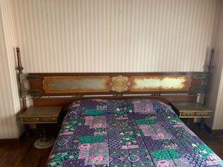 Cabecero+2 mesillas+cómoda+cama