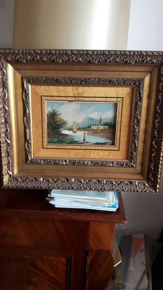 cuadros de esmalte pintados sobre lamina de cobre