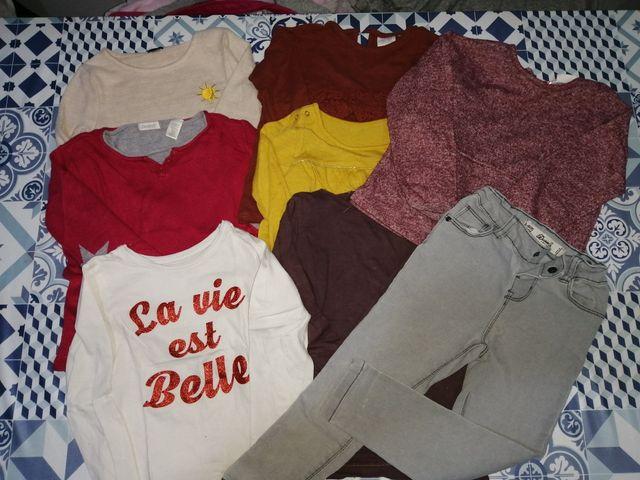 Lote de ropa de niña de la talla 3-4 años