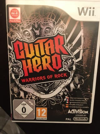 """""""Guitar Hero Wii"""" con batería y guitarra"""