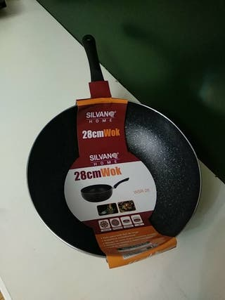 Wok sartén de 28 cm de diámetro