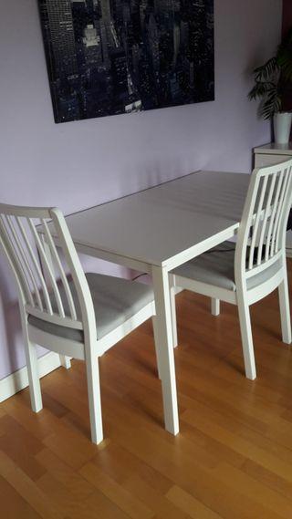 Mesa de comedor con 2 sillas