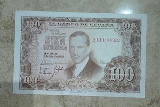 100 pesetas 1953 sc