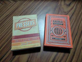 Barajas de cartas Pressers y Animal Kingdom