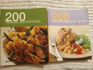 Pack de 2 Libros: 200 recetas bajas en grasa